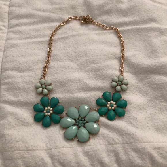 Charming Charlie Jewelry - Women's blue and teal floral necklace